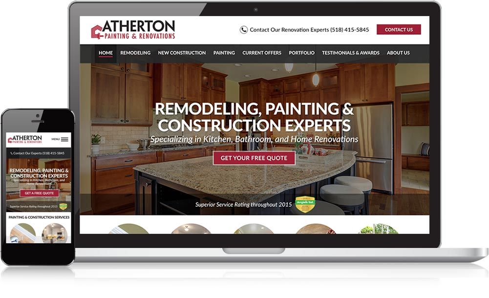 Atherton Painting Responsive Website Design
