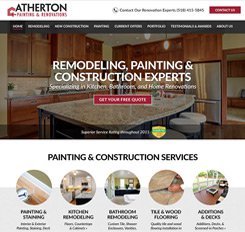 Atherton Painting Web Design