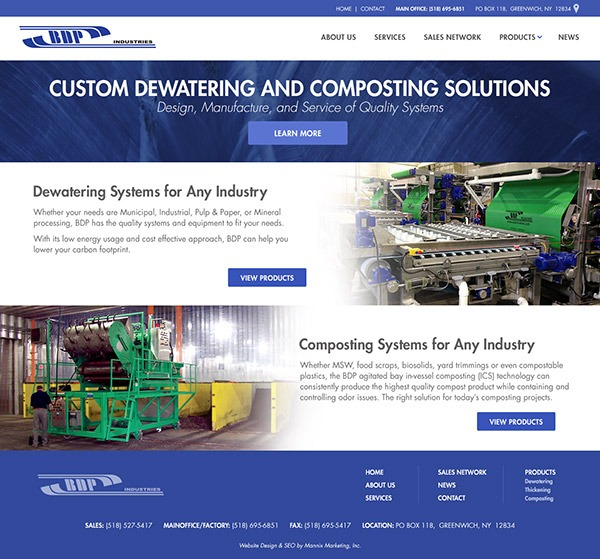 BDP Industries Website Design and Development