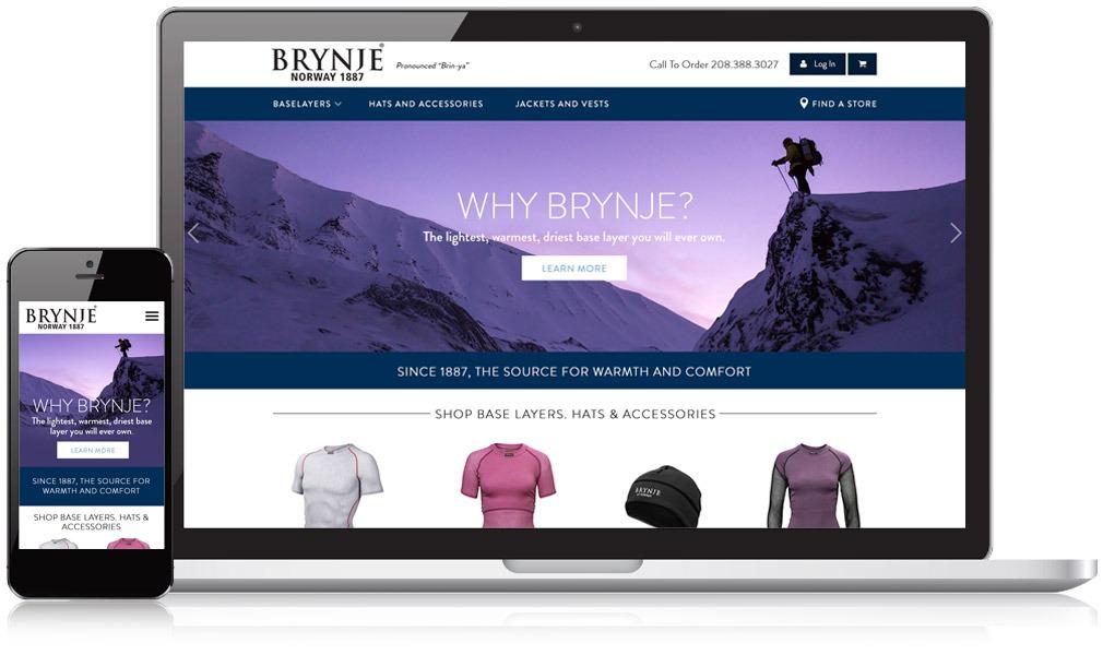 Brynje USA Responsive Website Design