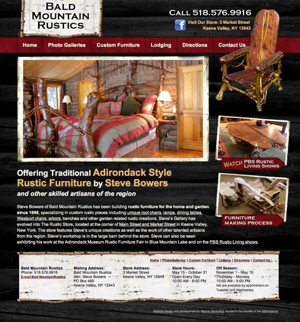 Bald Mountain Rustics Website Design and Development