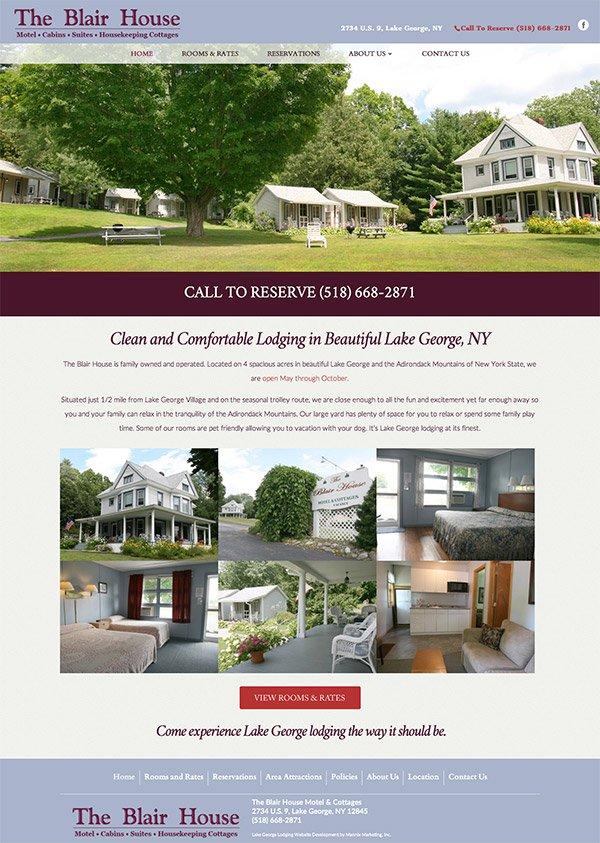 Blair House Website Design
