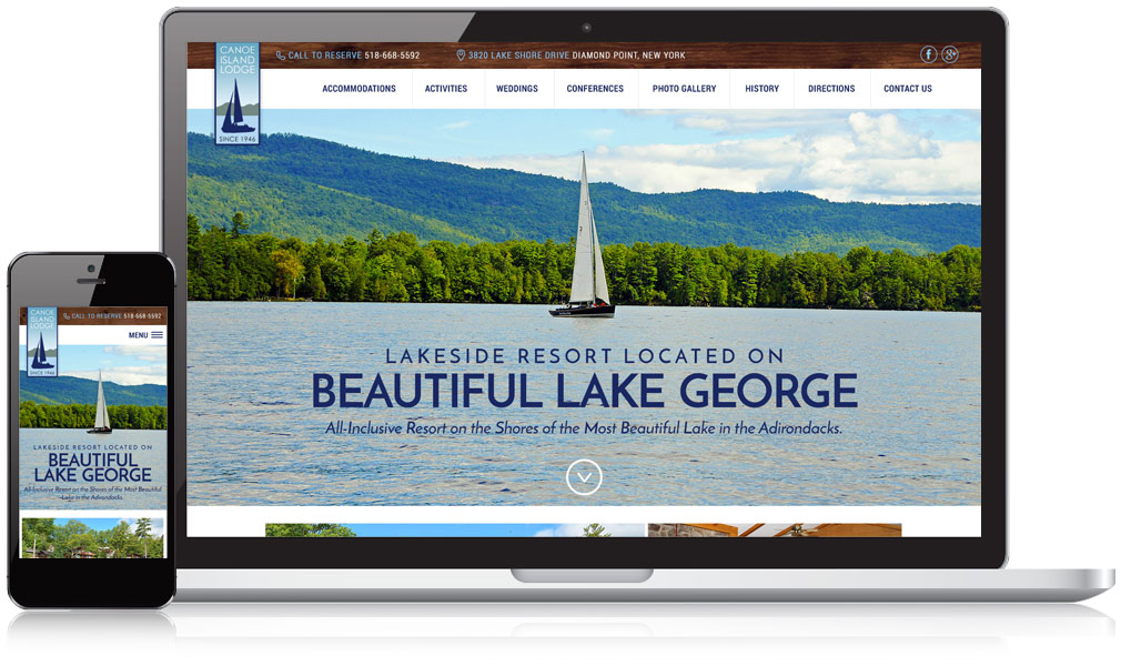 Canoe Island Responsive Website Design