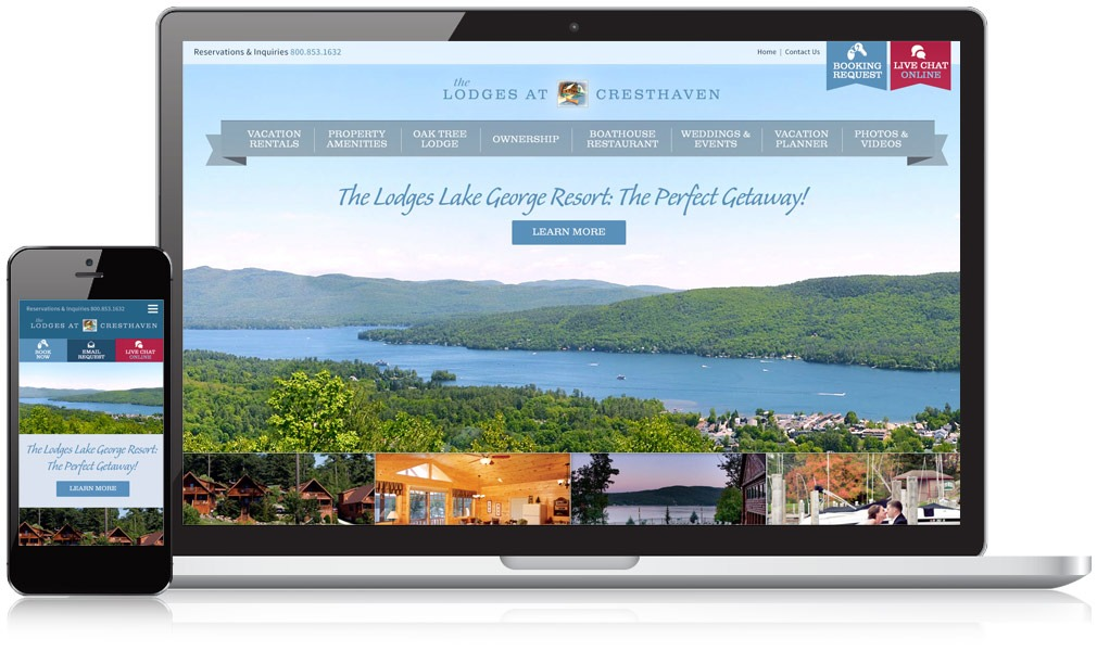 The Lodges at Cresthaven Responsive Website Design