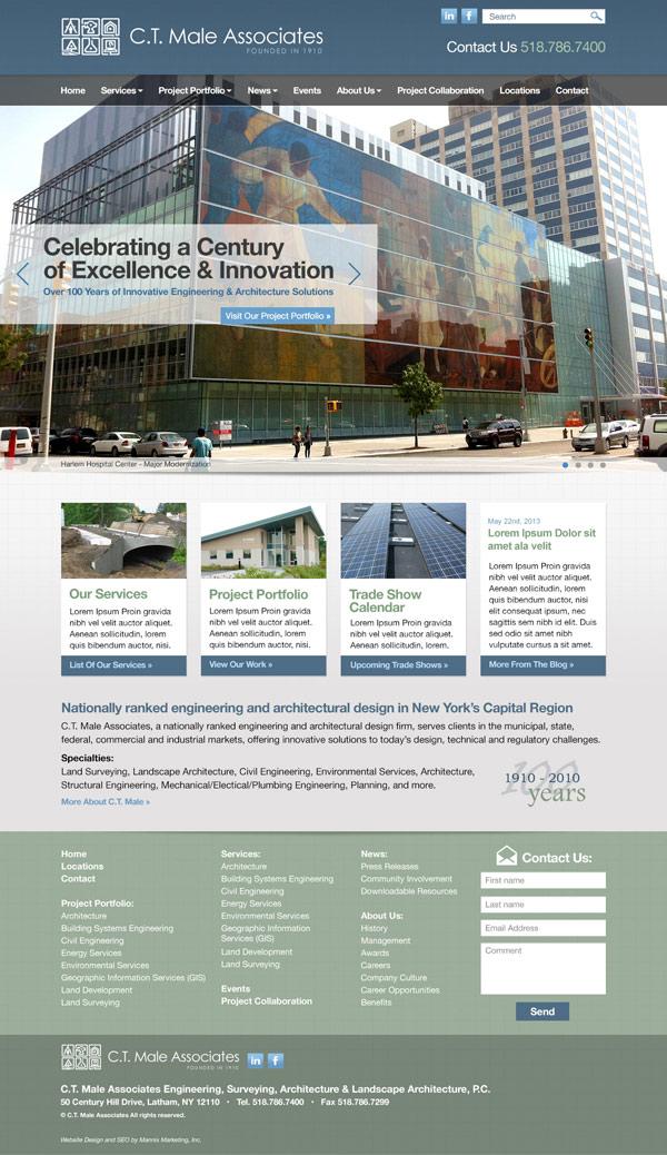 C.T. Male Associates Website Design and Development