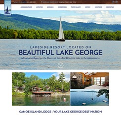 Canoe Island Lodge Website Design