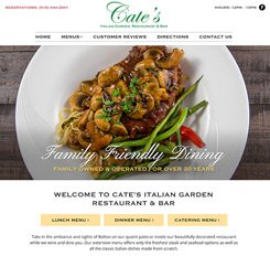 Cate's Restaurant Web Design