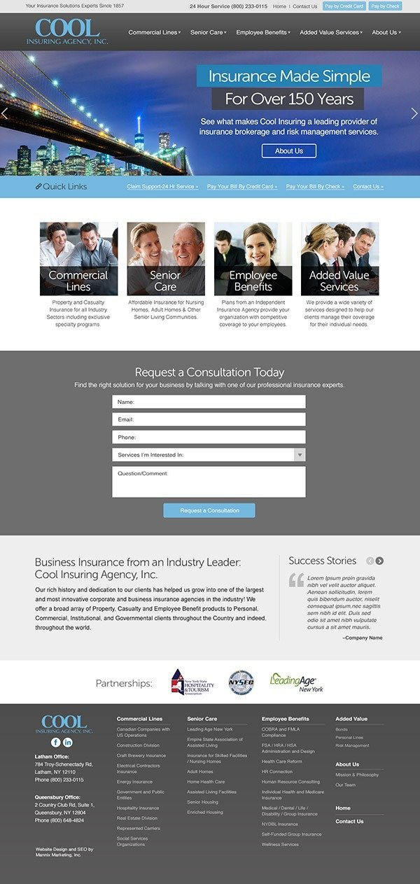Cool Insuring Agency Website Design and Development