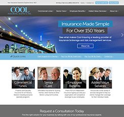 Cool Insurance Website Design