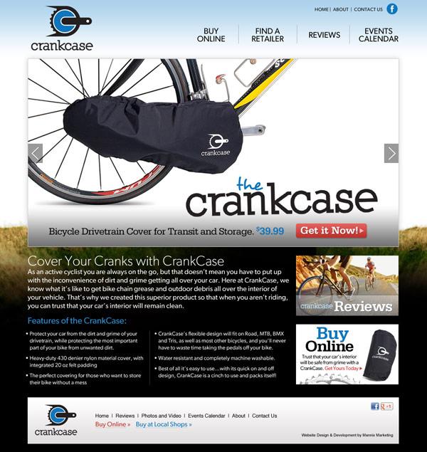 Crankcase Website Design and Development