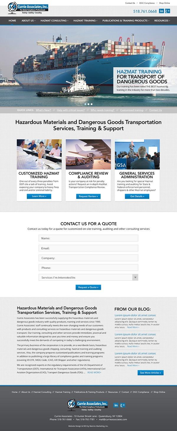 Currie Associates Website Design and Development