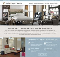 Curtains to Carpets Website Design