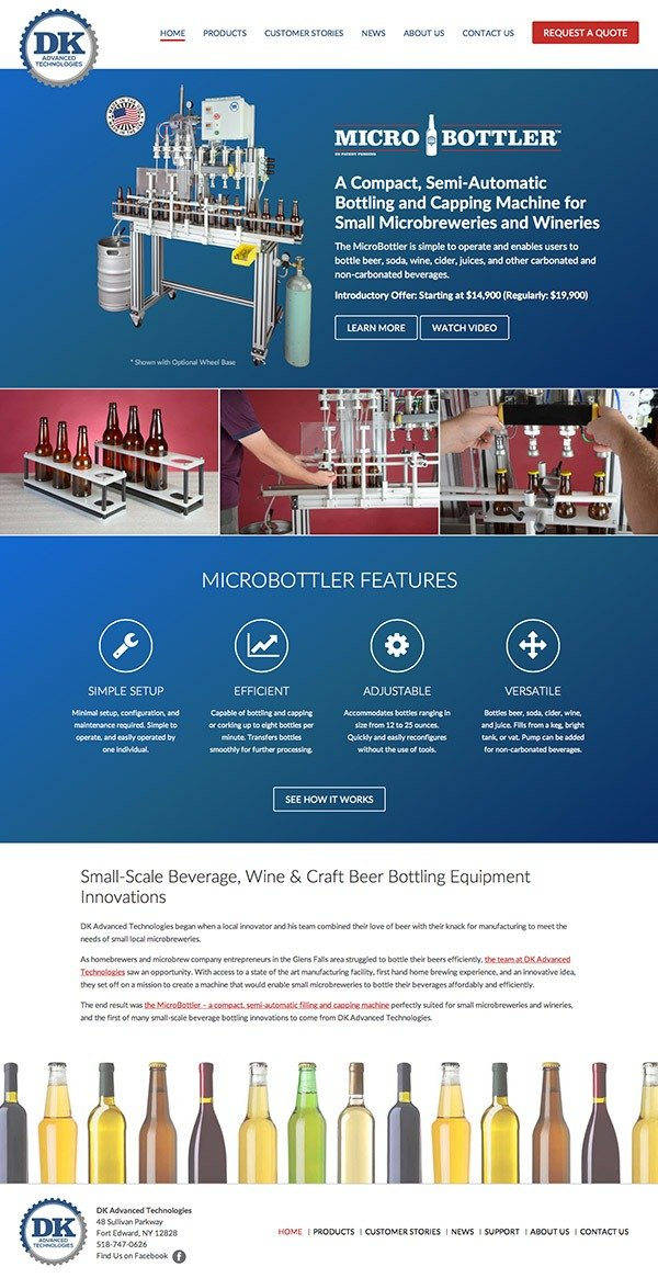 DK Advanced Technologies Website Design and Development