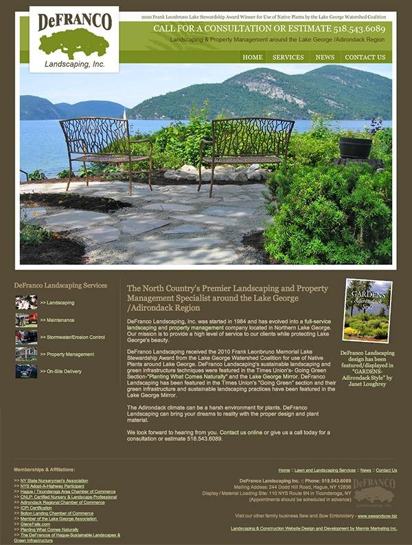 DeFranco Landscaping Website Design and Development