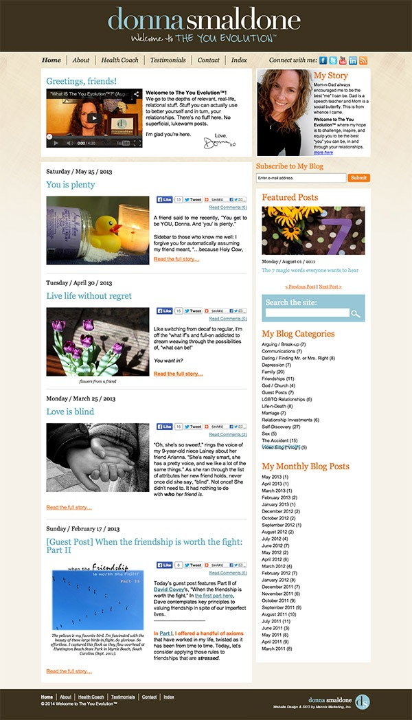 Donna Smaldone Website Design and Development