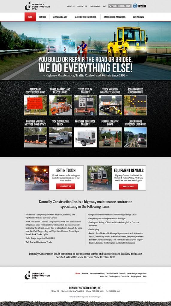 Donnelly Construction Website Design