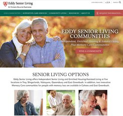Eddy Senior Living Website Design