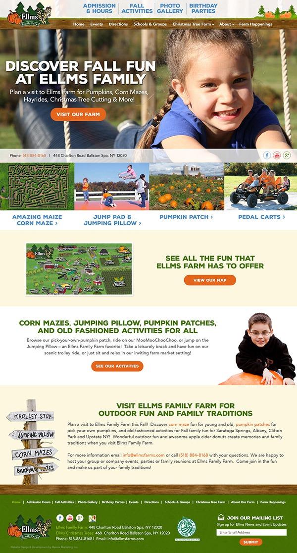 Ellms Family Farm Website Design and Development