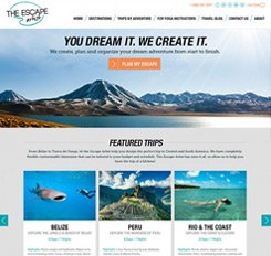 Escape Artist Website Design