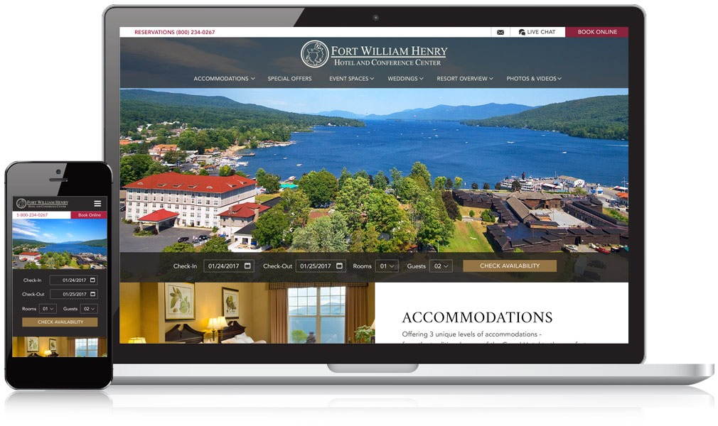 Fort William Henry Responsive Website Design
