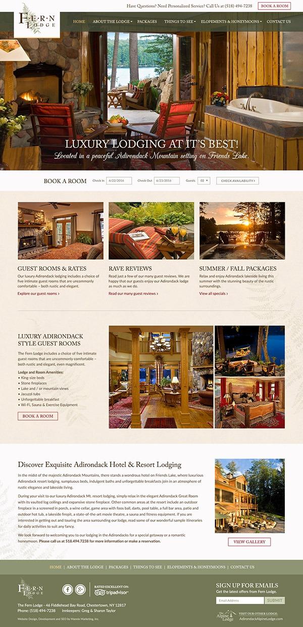 Fern Lodge Website Design and Development