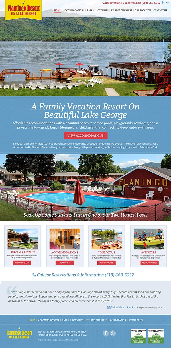 Flamingo Resort Website Design and Development