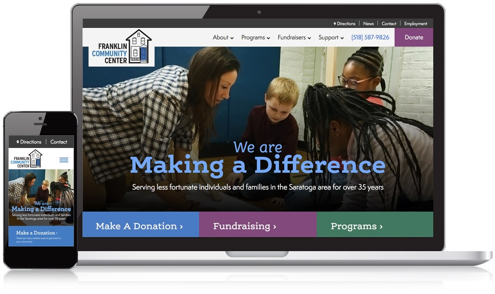 Franklin Community Center Responsive Website Image