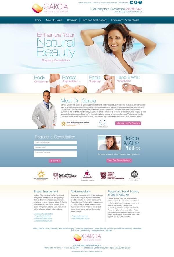 Garcia Plastic and Hand Surgery Website Design and Development
