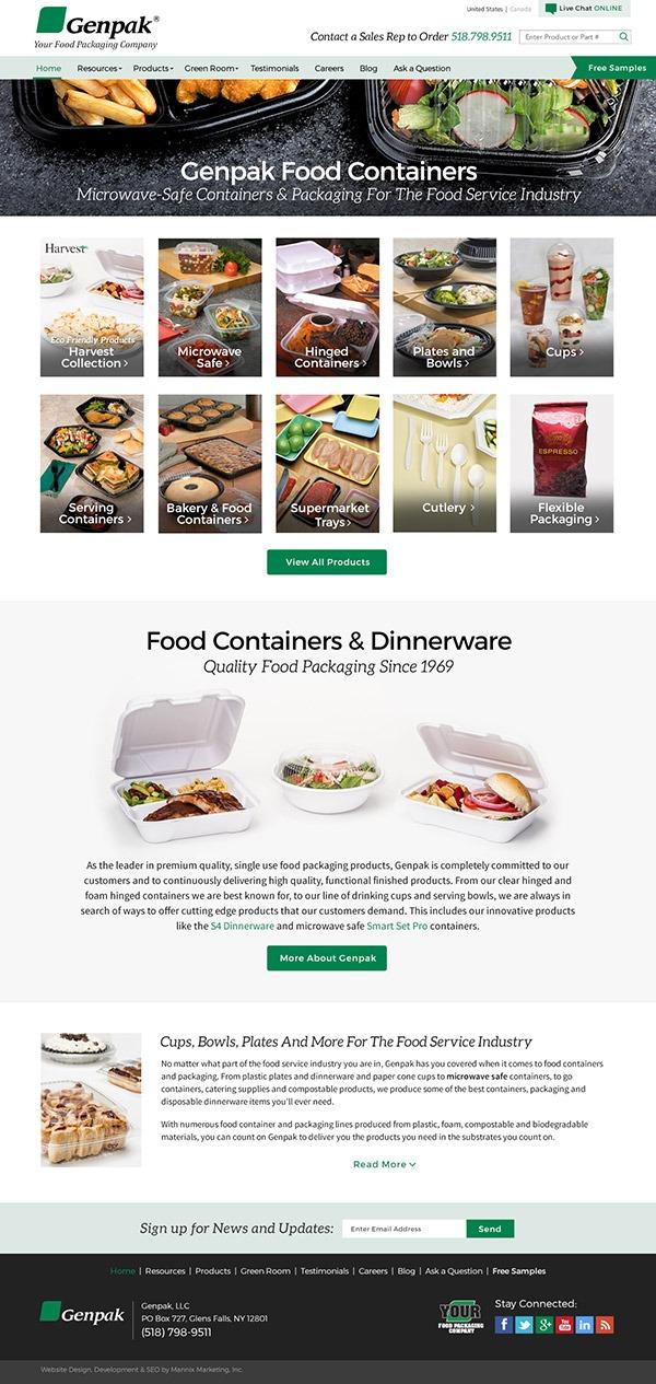 Genpak Website Design and Development