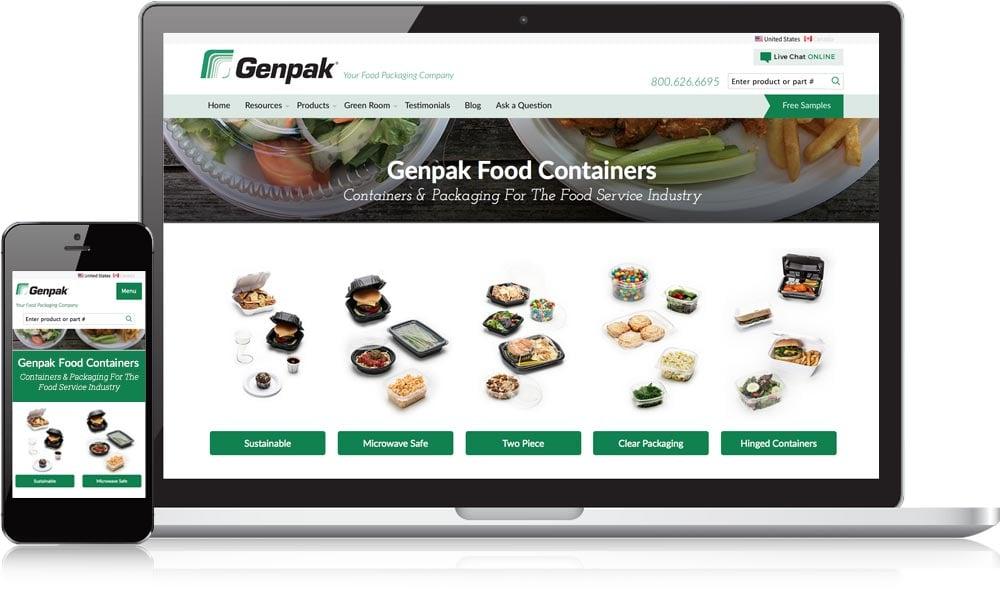 Genpak Responsive Website Design
