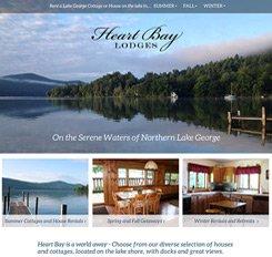Heart Bay Lodges Website Design
