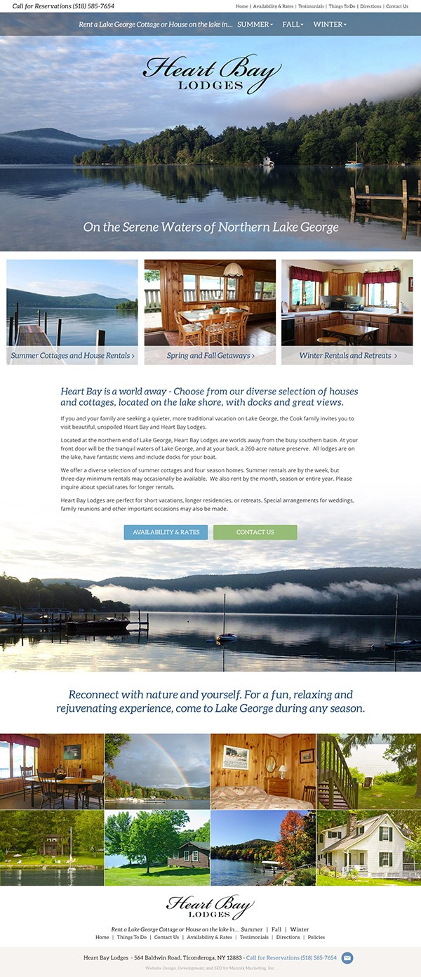 Heart Bay Lodges Website Design and Development