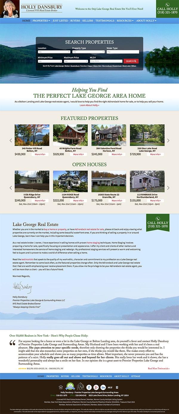 Holly Dansbury Real Estate Website Design and Development