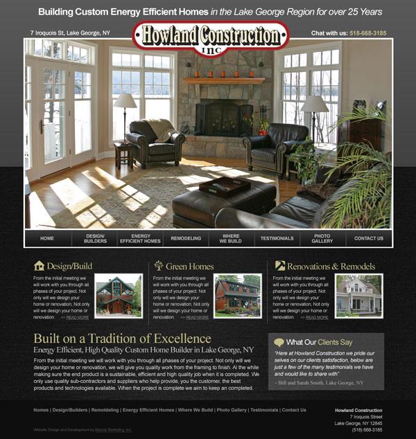 Howland Construction Website Design And Development