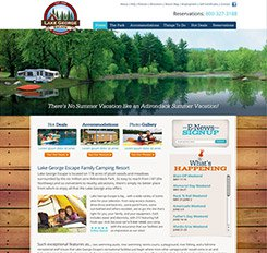 Lake George Escape Website Design