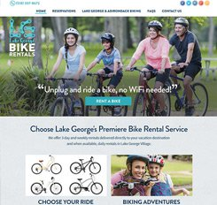 Lake George Bike Rentals Website Design