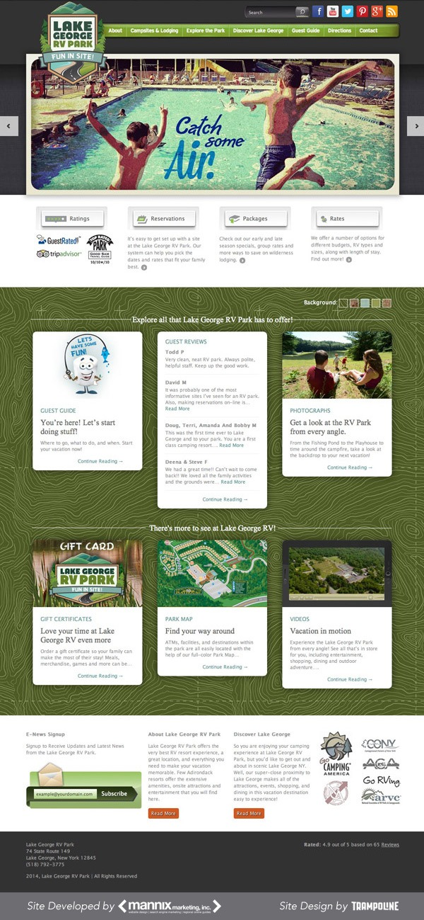 Lake George RV Park Website Design and Development