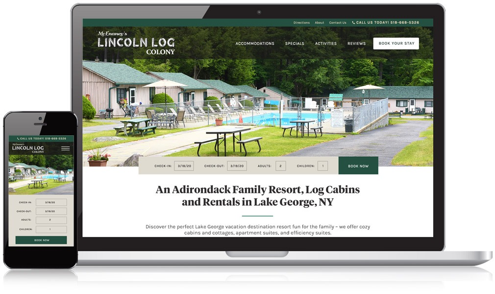 Lincoln Log Colony Responsive Website Image