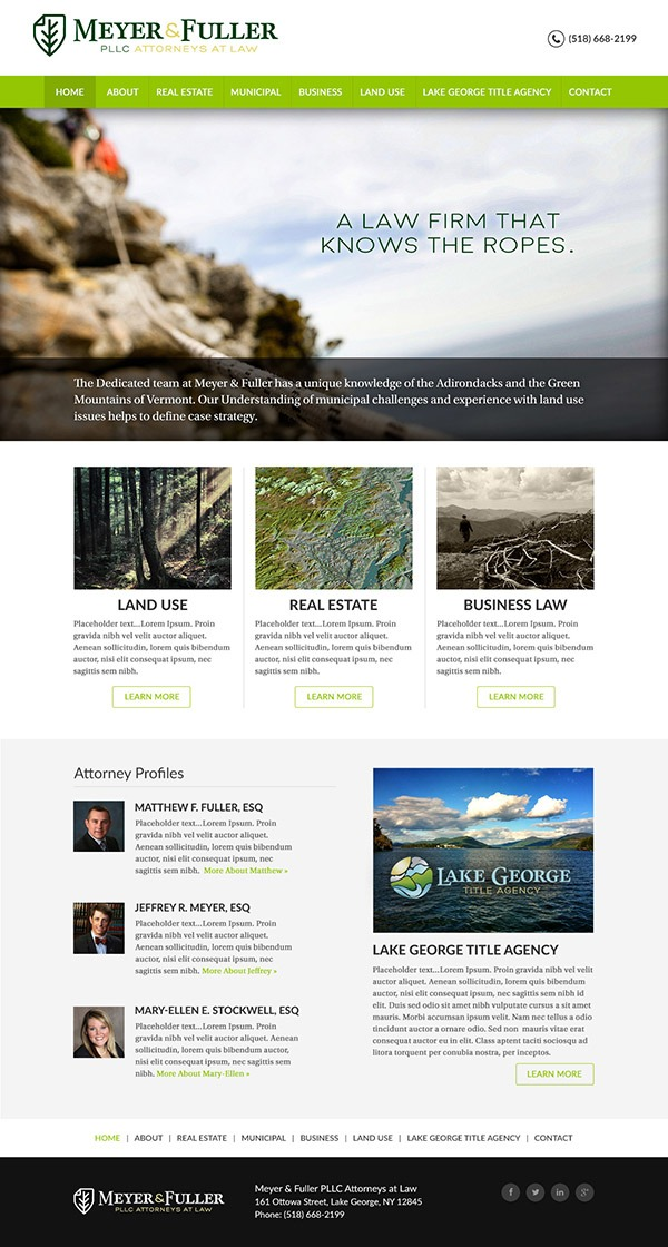 Meyer and Fuller PLLC Website Design and Development