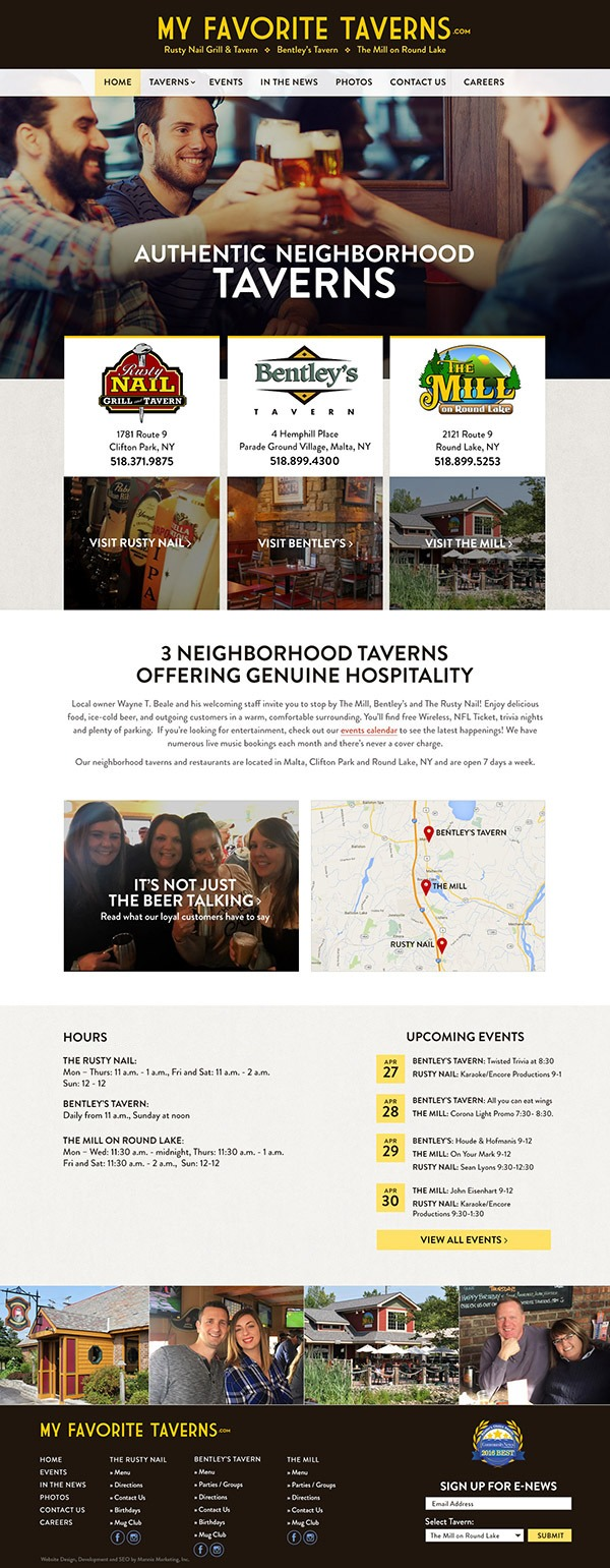 My Favorite Taverns Website Design and Development