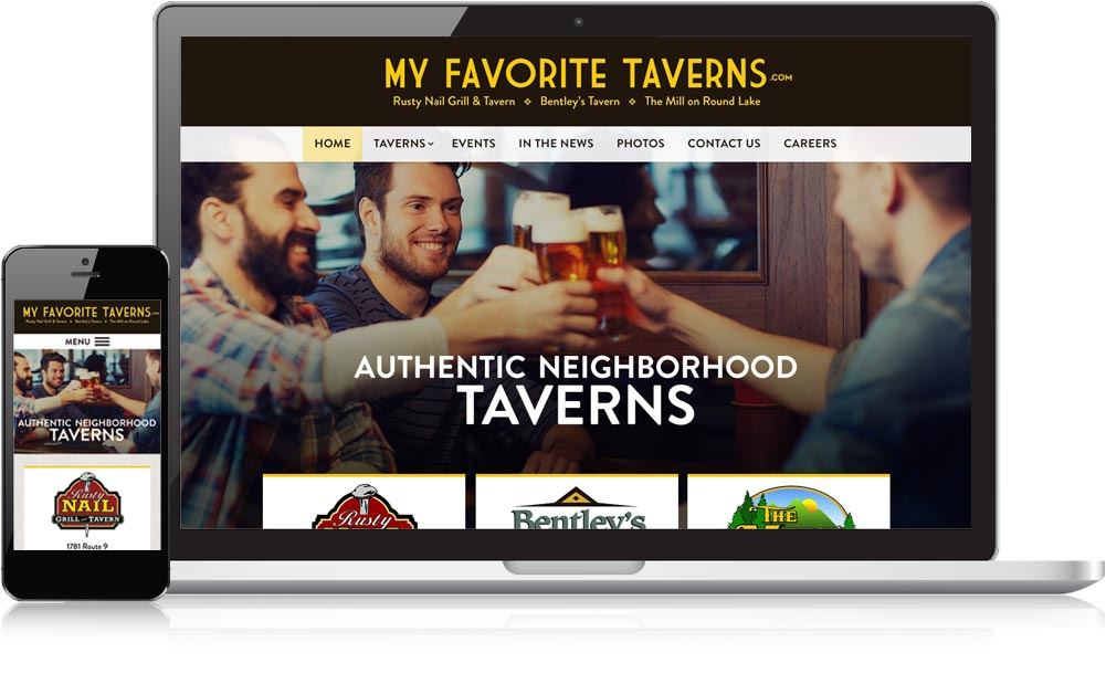 MyFavoriteTaverns.com Responsive Website Design