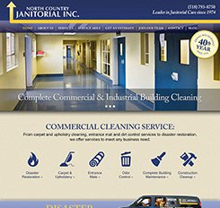 North Country Janitorial Website Design
