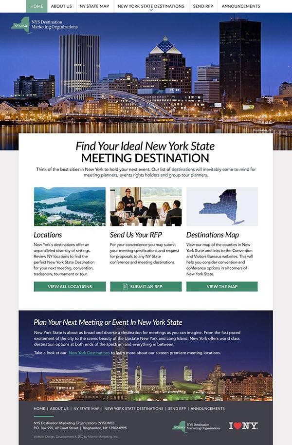 New York State Destination Marketing Organizations Website Design and Development