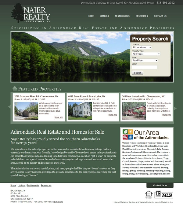 Najer Realty Website Design and Development