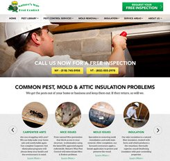 Nature's Way Pest Control Website Design