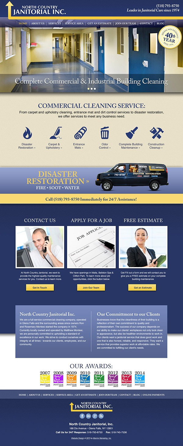 North Country Janitorial Website Design and Development