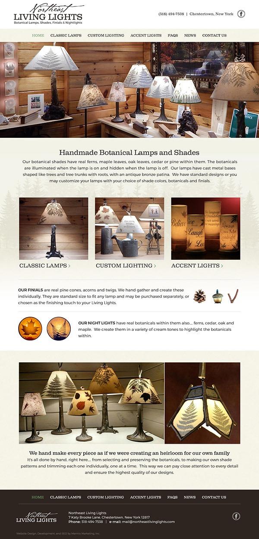 Northeast Living Lights Website Design and Development