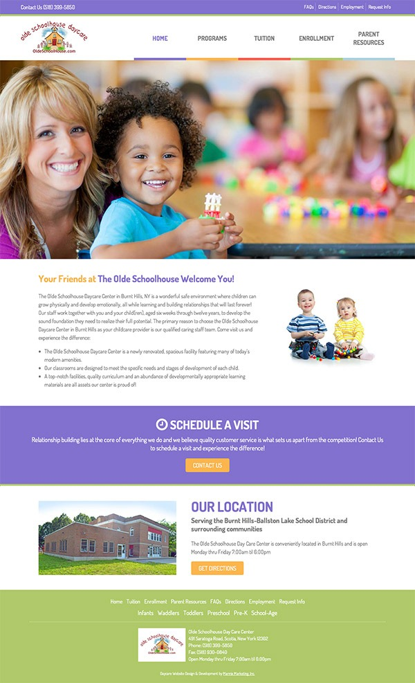 Olde Schoolhouse Daycare Website Design and Development