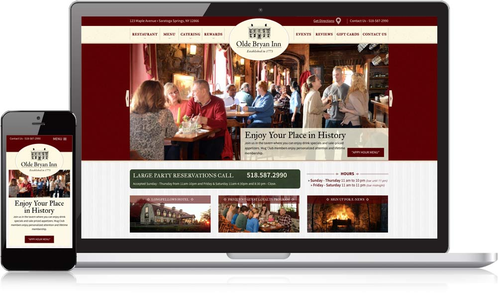 Olde Bryan Inn Responsive Website Design