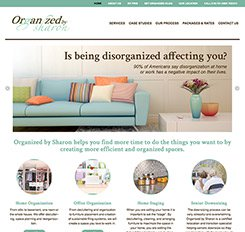 Organized by Sharon Website Design